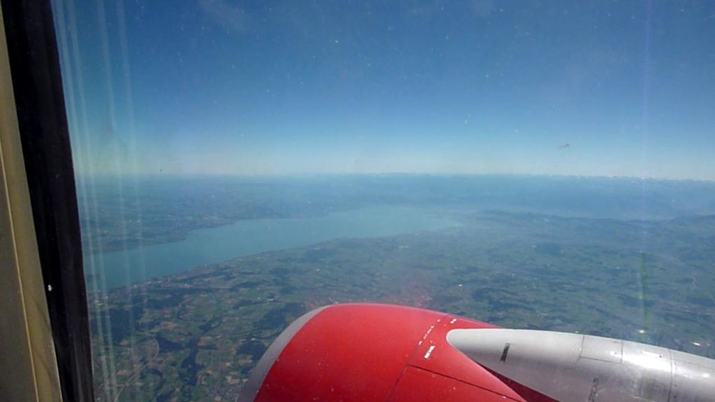 Flug Zürich - Düsseldorf am 01.08.2013, Boeing 737-700, Bodensee